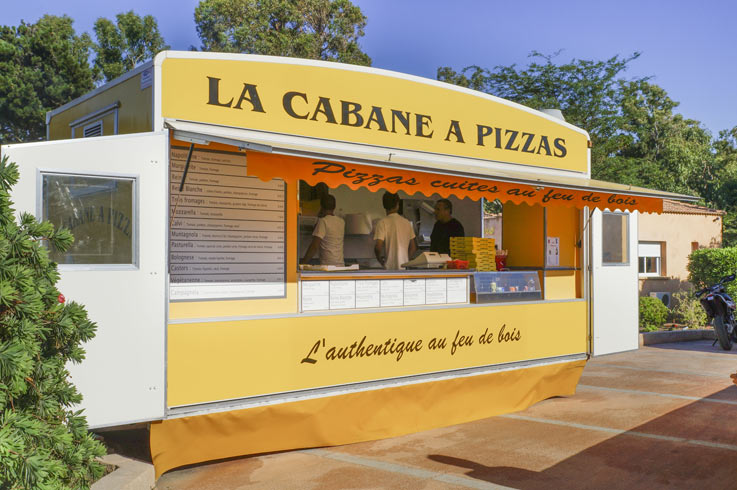 campeggio pizzeria capanna Corsica